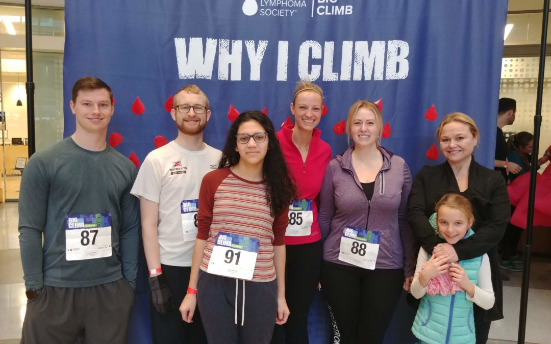 Brownson LLC Conquers Capella Tower Climb in the Fight Against Cancer